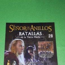 Juegos Antiguos: EL SEÑOR DE LOS ANILLOS - BATALLAS EN LA TIERRA MEDIA - NUMERO 28 - INCLUYE FIGURA HALDIR METAL. Lote 198693255