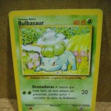 Juegos Antiguos: CARTA POKEMON AÑO 1999 - BULBASAUR. Lote 236583580