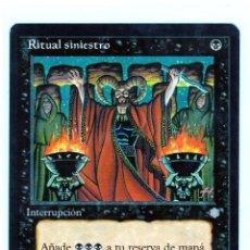 Juegos Antiguos: RITUAL SINIESTRO ,MAGIC THE GATHERING. Lote 200767633