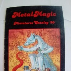 Juegos Antiguos: CATALOGO MINIATURAS METALMAGIC MINIATURES CATALOG 90-VER FOTOS. Lote 201942550