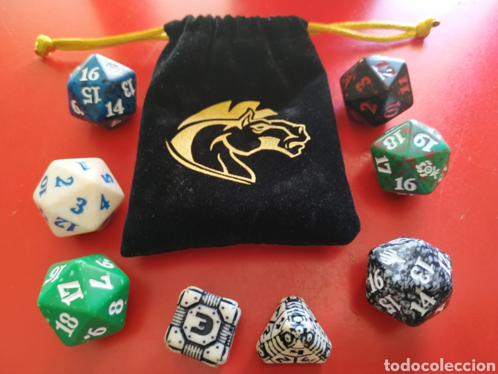 Juegos Antiguos: Bolsa y Juego de 8 dados de Rol - Foto 3 - 202762637