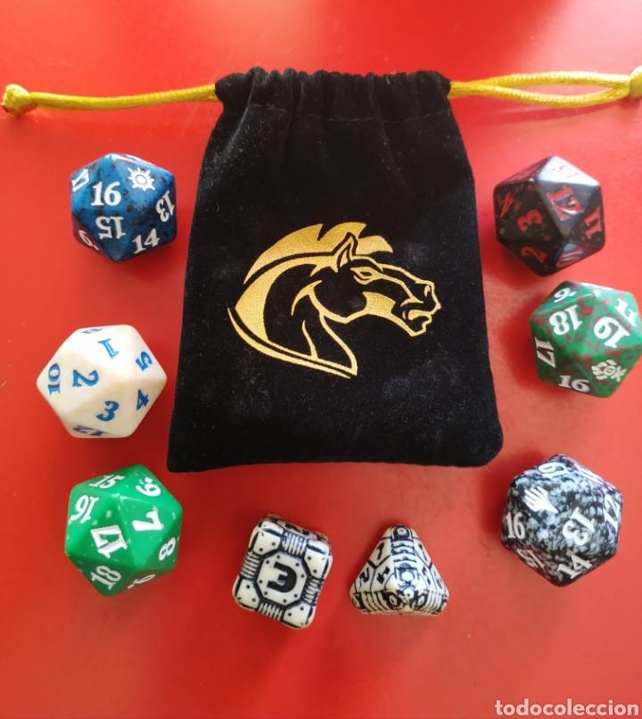 Juegos Antiguos: Bolsa y Juego de 8 dados de Rol - Foto 4 - 202762637