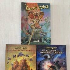 Juegos Antiguos: EL RETORNO DEL IMPERIO COBRA - EL TEMPLO DE LAS MIL PUERTAS - EL ATAQUE DE LOS HOMBRES COBRA -LIBROS. Lote 203899762