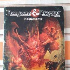 Juegos Antiguos: REGLAMENTO DUNGEONS AND DRAGONS - BORRÁS - ROL. Lote 205275687