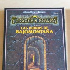 Juegos Antiguos: CAJA JUEGO LAS RUINAS DE BAJOMONTAÑA REF.405 (INCOMPLETO). Lote 205380162