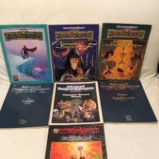 Juegos Antiguos: LOTE 7 LIBROS ROL ADVANCED DUNGEONS & DRAGONS. FORGOTTEN REALMS. THE ILLITHIAD. DRAGONES Y MAZMORRAS. Lote 205610548