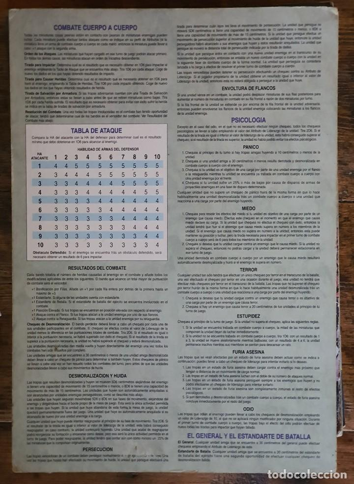 Juegos Antiguos: WARHAMMER HOJA DE CONSULTA RAPIDA - SEÑALES DE USO - Foto 2 - 206821135