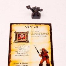 Juegos Antiguos: HEROQUEST - FICHA TROLL Y GUERRERO CAOS. Lote 207011520