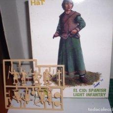 Juegos Antiguos: 28 MM. HAT EL CID: SPANISH LIGHT INFANTRY. Lote 207035628