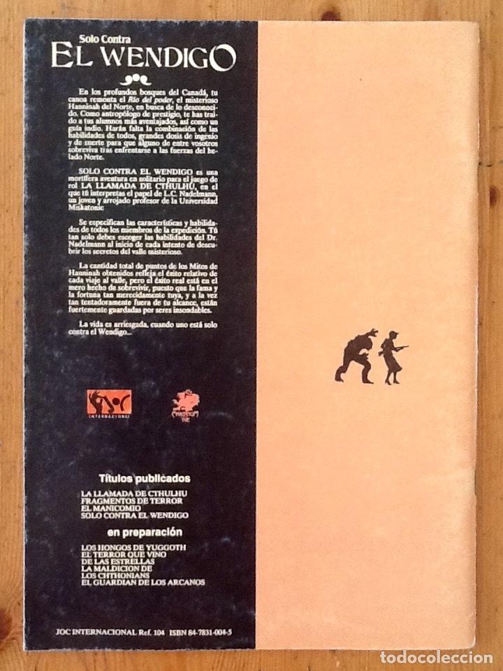 Juegos Antiguos: Modulo La Llamada de Cthulhu : Solo Contra El Wendigo - Joc Internacional - Chaosium - Foto 2 - 207106198