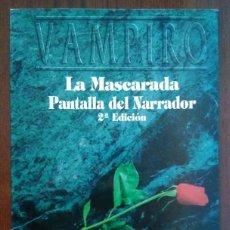 Juegos Antiguos: PACK MUNDO DE TINIEBLAS - PANTALLA DEL NARRADOR VAMPIRO LA MASCARADA Y 6 MÓDULOS AMPLIACIÓN. Lote 207155261