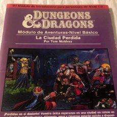 Juegos Antiguos: DUNGEONS & AND DRAGONS D&D LA CIUDAD PERDIDA JUEGO DE ROL DALMAU CARLES, PLA. Lote 207233410