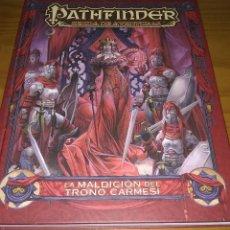 Juegos Antiguos: LA MALDICIÓN DEL TRONO CARMESÍ PATHFINDER SENDA DE AVENTURAS D&D 3.5 ROL DUNGEONS DEVIR. Lote 207234292