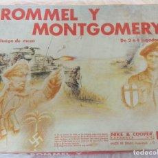 Juegos Antiguos: JUEGO DE ESTRATEGIA NAC ROMMEL Y MONTGOMERY/SERIE WARGAMES/NIKE & COOPER.. Lote 210117056