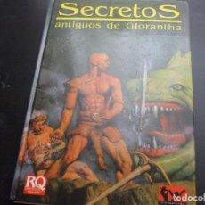 Jeux Anciens: JUEGO DE ROL: RUNE QUEST SECRETOS ANTIGUOS DE GLORANTHA. Lote 210339652