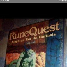 Giochi Antichi: CAJA RUNE QUEST BÁSICO - JUEGO DE ROL - EDICIÓN BASICA COMPLETA CON SU PRECINTO ORIGINAL. Lote 210811197