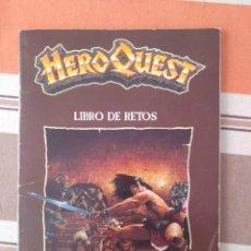Juegos Antiguos: LIBRO DE RETOS - HEROQUEST - HERO QUEST - ROL - JUEGO DE MESA. Lote 211461229