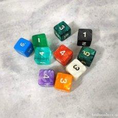 Juegos Antiguos: LOTE 10 DADOS DE 6 CARAS. Lote 211479114