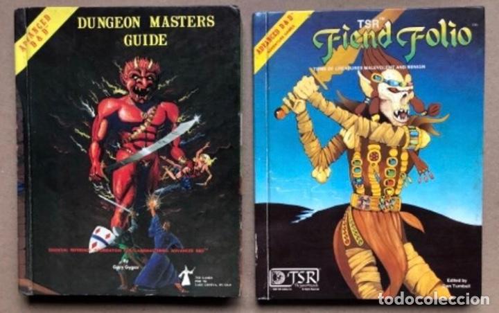 DUNGEON MASTERS GUIDE Y FIEND FOLIO. ADVANCED D & D AVENTURE GAMES. TSR GAMES. (Juguetes - Rol y Estrategia - Juegos de Rol)