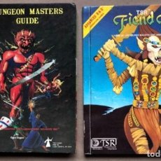 Juegos Antiguos: DUNGEON MASTERS GUIDE Y FIEND FOLIO. ADVANCED D & D AVENTURE GAMES. TSR GAMES. . Lote 150251266