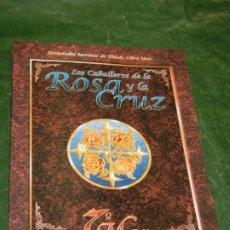 Juegos Antiguos: 7º MAR: LOS CABALLEROS DE LA ROSA Y LA CRUZ - SOCIEDADES SECRETAS THEAH LIBRO UNO - LF7M351 2001. Lote 211664921