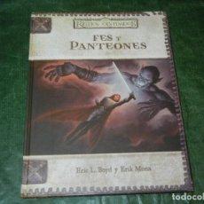 Jogos Antigos: FES Y PANTEONES - REINOS OLVIDADOS / DUNGEONS & DRAGONS - DD2004 - 2003. Lote 211990682