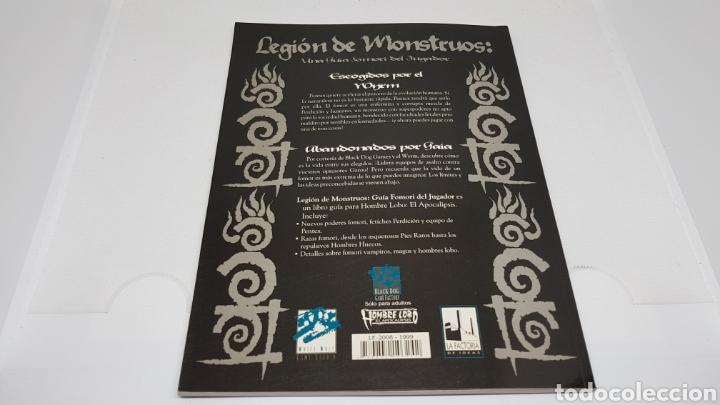 Juegos Antiguos: LEGION DE MONSTRUOS GUIA FOMORI LA FACTORIA DE IDEAS 1999 HOMBRE LOBO EL APOCALIPSIS - Foto 2 - 212893320