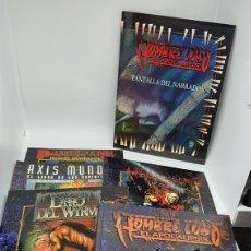 Juegos Antiguos: 5 LIBROS LA FACTORIA DE IDEAS GUIA HOMBRE LOBO EL APOCALIPSIS DESDE 1995 + PANTALLA DEL NARRADOR. Lote 212897751