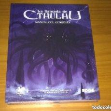 Juegos Antiguos: LA LLAMADA DE CTHULHU MANUAL DEL GUARDIÁN JUEGO DE ROL H.P. LOVECRAFT EDGE PRECINTADO. Lote 213757296