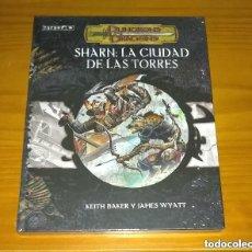 Juegos Antiguos: EBERRON SHARN: LA CIUDAD DE LAS TORRES D&D 3.5 SUPLEMENTO ROL DUNGEONS AND DRAGONS DEVIR PRECINTADO. Lote 213757472