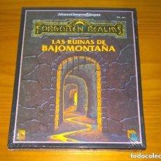 Juegos Antiguos: CAJA LAS RUINAS DE BAJOMONTAÑA FORGOTTEN REALMS ZINCO ADVANCED DUNGEONS & DRAGONS ROL PRECINTADO. Lote 213758351