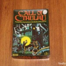 Jeux Anciens: CAJA ORIGINAL CALL OF CTHULHU 2A EDICIÓN 1983 JUEGO ROL CHAOSIUM JOC LLAMADA EXCEPCIONAL. Lote 214140643