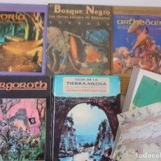 Juegos Antiguos: LOTE ESDLA - GORGOROTH - MORIA CIUDAD ENANOS - BOSQUE NEGRO TIERRAS SALVAJES - GUÍA - MAPAS Y MÁS. Lote 214579472