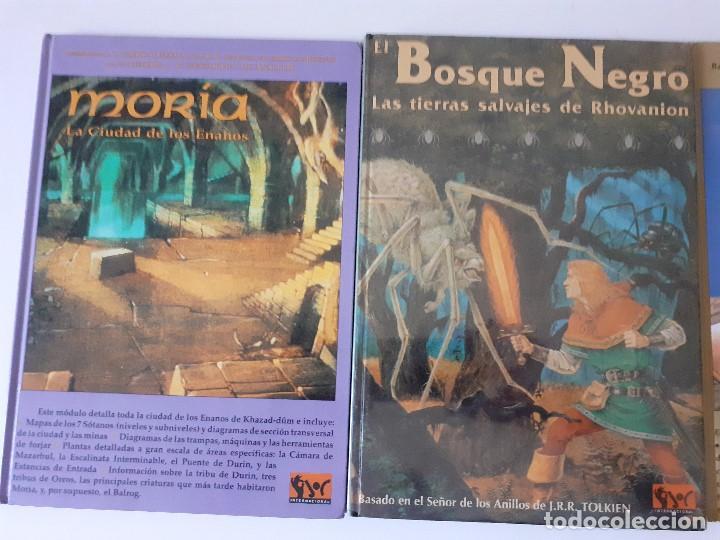 Juegos Antiguos: LOTE ESDLA - GORGOROTH - MORIA CIUDAD ENANOS - BOSQUE NEGRO TIERRAS SALVAJES - GUÍA - MAPAS Y MÁS - Foto 3 - 214579472