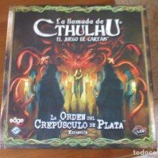 Juegos Antiguos: JUEGO DE CARTAS LA LLAMADA DE CTHULHU: ORDEN DEL CREPÚSCULO DE PLATA SEMI NUEVA. Lote 214673388
