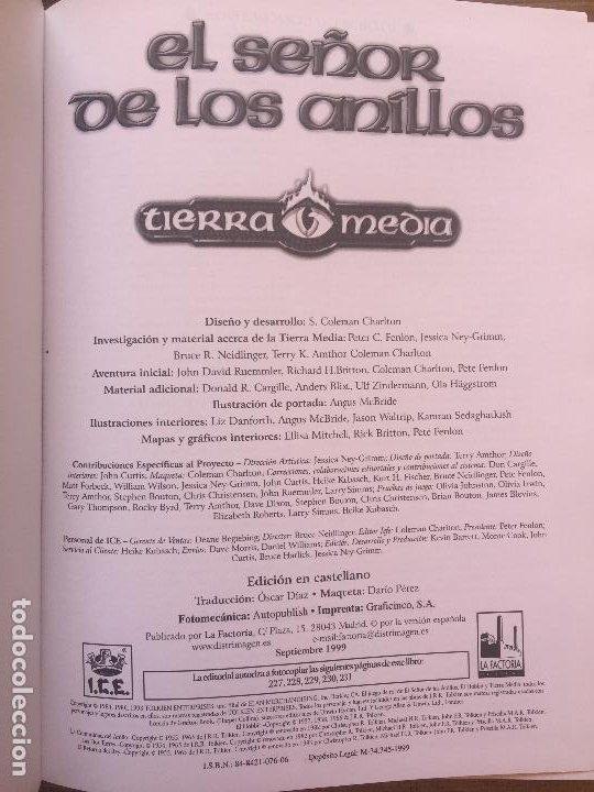 Juegos Antiguos: EL SEÑOR DE LOS ANILLOS - TIERRA MEDIA / LA FACTORIA DE IDEAS - Foto 2 - 215628712