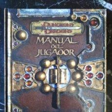 Jogos Antigos: DUNGEONS & DRAGONS 3.5 MANUAL DEL JUGADOR (DEVIR DD1000) - TAPA DURA. Lote 217359785