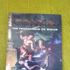 Juegos Antiguos: CONAN LOS PERGAMINOS DE SKELOS (EDGE EDG7701) - TAPA DURA. Lote 217833032