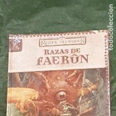 Jogos Antigos: DUNGEONS & DRAGONS REINOS OLVIDADOS RAZAS DE FAERUN (DEVIR DD2007) - PRECINTADO. Lote 217914235