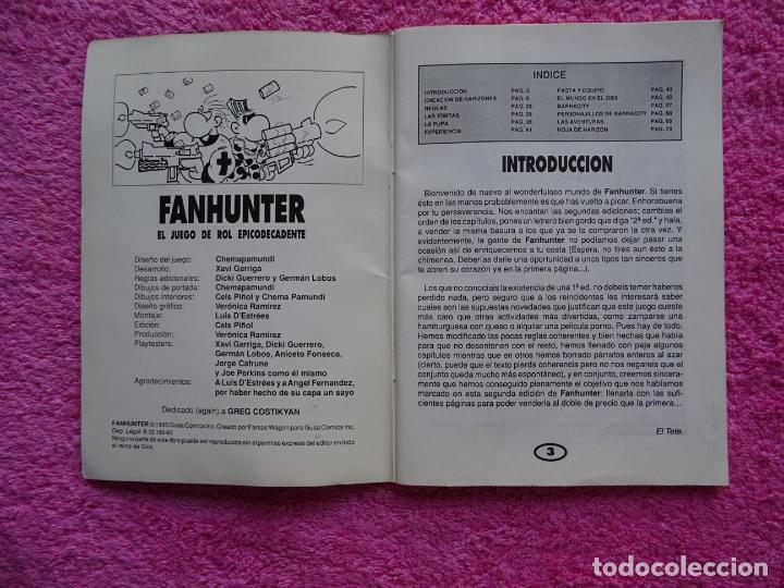 Juegos Antiguos: fanhunter el juego de rol epicodecadente gusa comics 1993 cels piñol chema pamundi - Foto 2 - 218222816