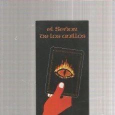 Juegos Antiguos: EL SEÑOR DE LOS ANILLOS PUBLICIDAD DEL JUEGO CARTAS. Lote 218275445
