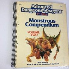 Juegos Antiguos: MONSTRUOS ADVANCED DUNGEONS & DRAGONS - DRAGONES Y MAZMORRAS - VOLUMEN 2. Lote 219862343
