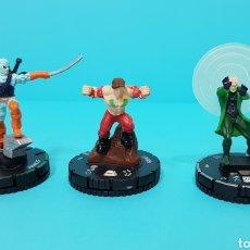Juegos Antiguos: LOTE 3 HEROCLIX PLATA / RAROS/ TEEN TITANS / RAVAGER #037B / GRUNGE #034 / PSIMON #052. Lote 220407855