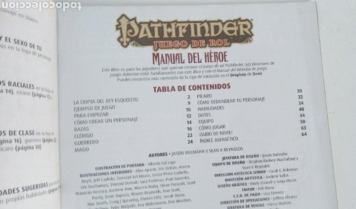 Juegos Antiguos: PATHFINDER- MANUAL DEL HEROE- JUEGO DE ROL- DEVIR -2015 - - Foto 7 - 220626623