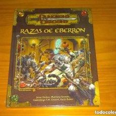 Juegos Antiguos: RAZAS DE EBERRON D&D 3.5 SUPLEMENTO DE ROL DUNGEONS AND DRAGONS DEVIR PRECINTADO. Lote 220919958