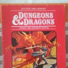 Juegos Antiguos: MANUAL DEL DUNGEON MASTER DE 1985 DALMAU EN CASTELLANO - CAJA ROJA - DUNGEONS AND DRAGONS ROL. Lote 221388968
