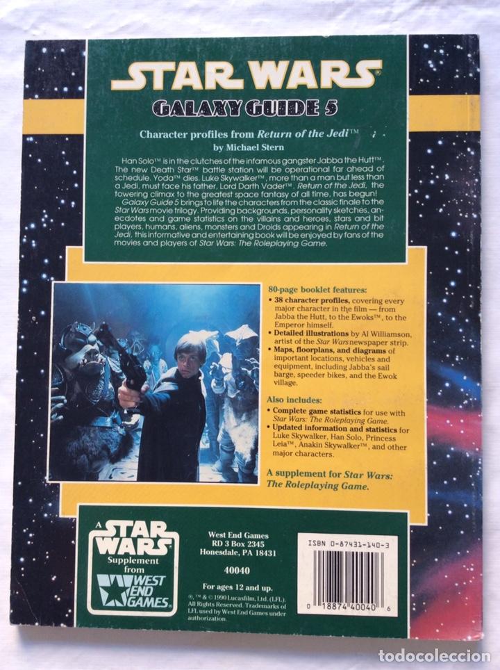 Juegos Antiguos: The return of the Jedi. Galaxy Guide 5. Star Wars. Juego de rol - Foto 2 - 221438800