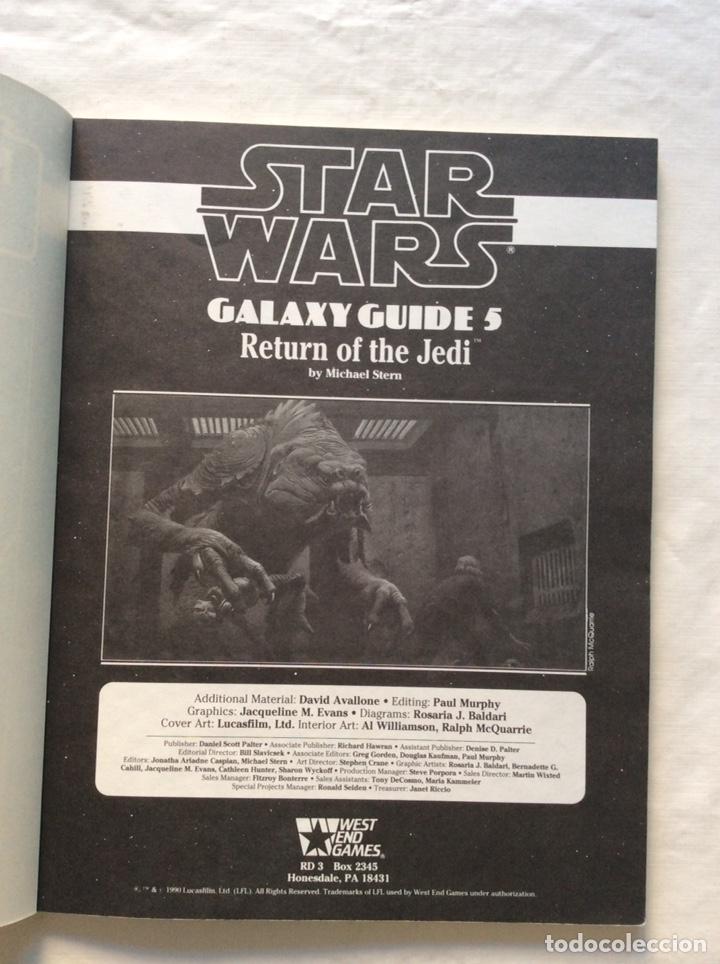 Juegos Antiguos: The return of the Jedi. Galaxy Guide 5. Star Wars. Juego de rol - Foto 3 - 221438800