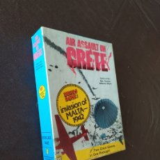 Juegos Antiguos: AIR ASSAULT ON CRETE. INVASION OF MALTA 1942. BOOKCASE STRATEGY GAMES. AH N. 823. EN INGLÉS.. Lote 221567243