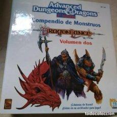 Juegos Antiguos: COMPENDIO DE MONSTRUOS VOLUMEN DOS 2 DRAGONLANCE ADVANCED DUNGEONS & DRAGONS ROL TSR ZINCO REF. 206. Lote 221893856